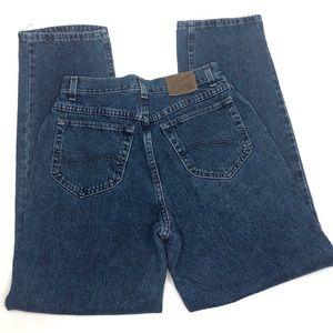 Vintage Riveted Lee Dark Wash High Waisted Jeans